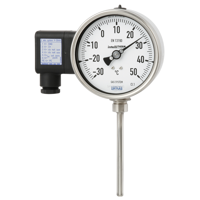 intelliTHERM® TGT73: Gas actuated thermometer with electrical output signal
