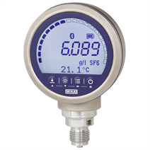 Precision digital gas density indicator